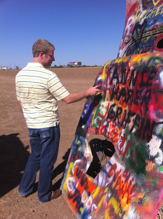 Cadillac Ranch Spraypainting