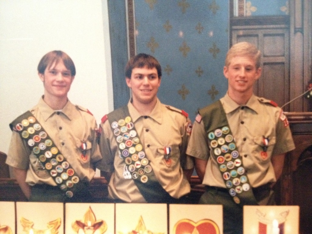 Eagle Scout returning badge